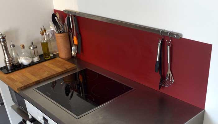 Lackiertes glas küchenrückwand  Anbringung einer Küchenrückwand aus lackiertem Glas